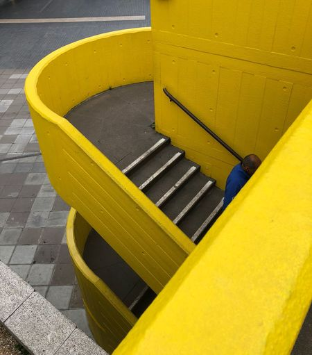 Blue and Yellow Colour Contrast City Life Southbank London Building Steps Stairs Stairs_collection Yellow High Angle View Day Outdoors Architecture Staircase Street City My Best Photo 17.62° Streetwise Photography The Art Of Street Photography British Culture Springtime Decadence The Mobile Photographer - 2019 EyeEm Awards The Minimalist - 2019 EyeEm Awards The Traveler - 2019 EyeEm Awards The Street Photographer - 2019 EyeEm Awards The Architect - 2019 EyeEm Awards