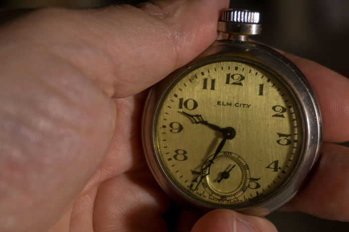 Antique Clock Clock Face Close-up Day Direction Holding Hour Hand Human Body Part Human Finger Human Hand Indoors  Lifestyles Men Minute Hand Navigational Compass Number Old-fashioned One Person Palm Pocket Watch Real People Roman Numeral Time Watch