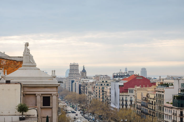 Architecture Built Structure Building Exterior Travel Destinations City No People Dome Sky Day Cityscape Snow Outdoors In Line Aerial View Horizontal Watching Over A City Portrait Of A City Skyline SPAIN Barcelona City Street Cityscapes Building Terrace City Cityscape