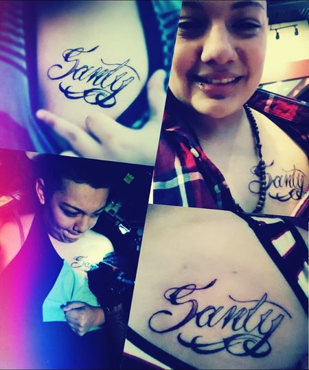 I Tatted Up My Moms Name On My Chest. (: I Love My Mommy ♡