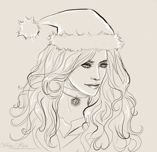 1995paint 2017 Happynewyear HelgaPaint Sapkowski Sketch Woman Yennefer Yennefer Of Vengerberg Art Girl Longhair Person Portrait Thewitcher Witch Womanface Womanportrait Yen Yenneferofvengerberg Yenneferthewitcher Youngwoman