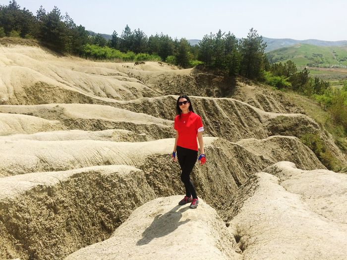 Mud volcano EyeEm EyeEm Nature Lover EyeEmNewHere Mud Volcanoes Romania Relief Nature One Person One Woman Only Only Women Adults Only Full Length Leisure Activity Young Women Outdoors Smiling Beauty In Nature Beautiful Woman Happiness Standing Day Go Higher
