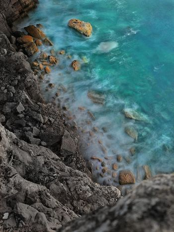Outdoors Nature Water Photographylovers Huawei P9 Leica HuaweiP9 Portugal Destinationearth Sea Earth Travel Destinations Huaweiphotography Longexposure Rocks And Water High Angle View No People Day Close-up Animal Themes Live For The Story
