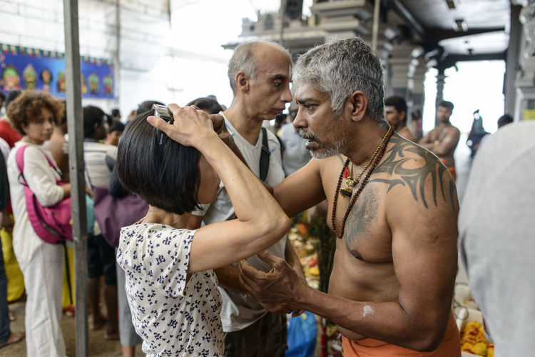 Thaipusam Adult Adults Only Dedication Exercising Friendship Gym Health Club Healthy Lifestyle Indian Culture  Indoors  Lifestyles Men Only Men People Self Improvement Sports Clothing Sports Training Sportsman Standing Teamwork Thaipusam Togetherness Women Young Adult Young Women