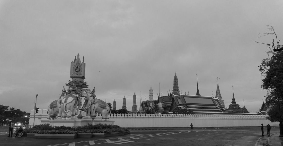 Architecture Day Grand Palace Bangkok Thailand Horizontal King Bhumipol Adulyadet Military Outdoors Sky Statue Travel Destinations