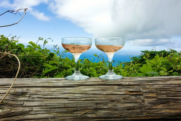 Cold and sweet, taste Hawaii. Live For The Story Food And Drink Alcohol Drink Cloud - Sky Outdoors Cocktail Drinking Glass No People Sky Refreshment Summer Day Nature Close-up Growth Freshness The Great Outdoors - 2017 EyeEm Awards EyeEm Selects
