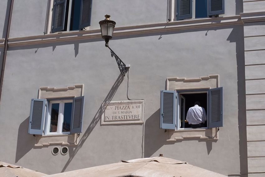 Back Trastevere Rome Steps And Staircases Staircase Architecture Built Structure Window Spiral Moving Around Rome Outdoors Building Exterior