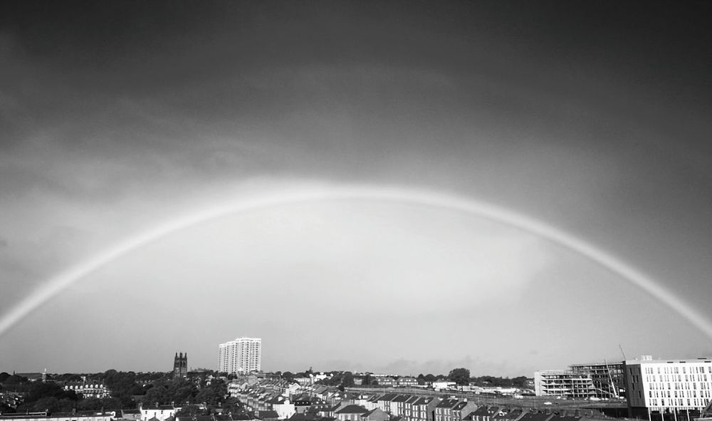 Storm Cloud Rainy Days Rainbow🌈 Urban Skyline Cityscape Battle Of The Cities Newcastle Upon Tyne Sky Beauty In Nature Arched Cultures Strret Art Streetphotography Overtherainbow Smile :) Tranquility Calmbeforethestorm Art City Romantic View Mobile Photography Huaweip9monochrome This Week On Eyeem EyeEmBestPics EyeEm Gallery