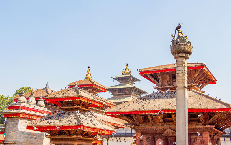 Durbar Square Kathmandu Nepal Pagoda Architecture Before Belief Building Building Exterior Built Structure Clear Sky Day Earthquake Low Angle View Nature No People Outdoors Place Of Worship Religion Roof Sky Spirituality Travel Travel Destinations