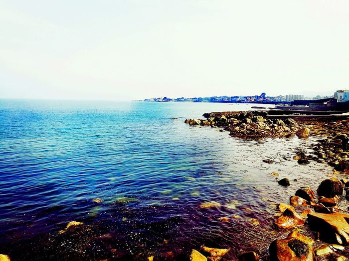 Colour Of Life Ireland🍀 Sea Dun Laoghaire Holidays ☀ Blue Water Rough Sea Crashing Sea Stones