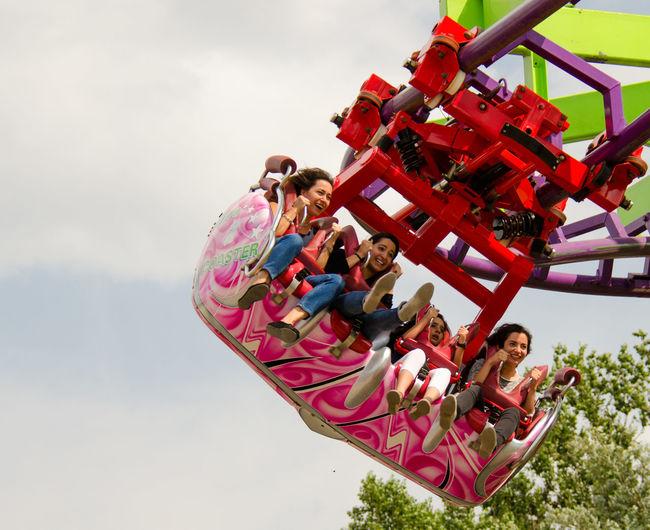 Achterbahn Adventure Aufregung Day Fun Outdoors Roller Coaster Spaß Speed