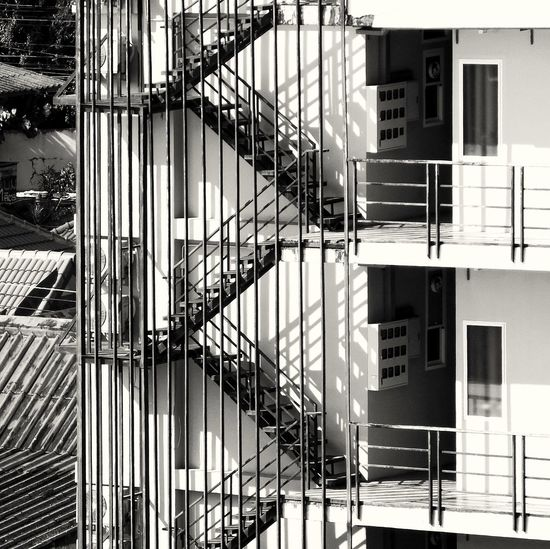 Built Structure Architecture Blackandwhite Building Exterior Steps Staircase Outdoors Steel Structure  Shadow And Light Evening Light Spotted In Thailand Long Distance Shot Beautifully Organized