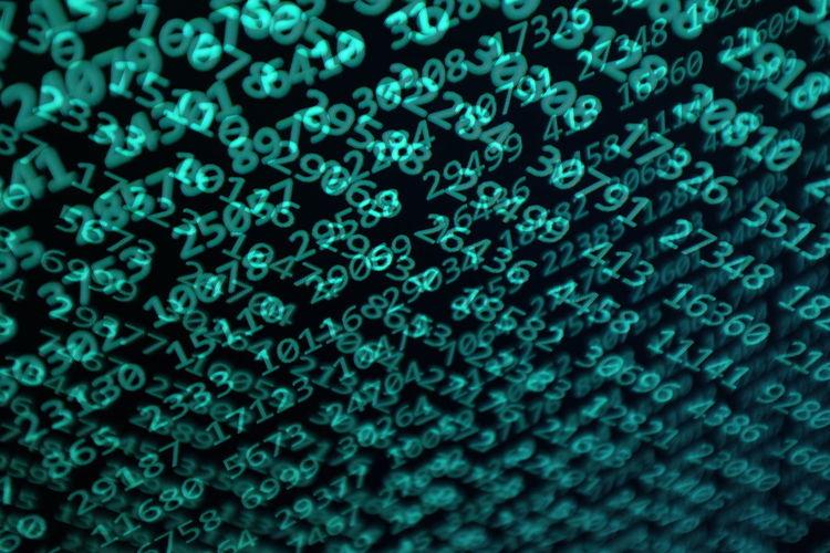 Full frame shot of binary codes