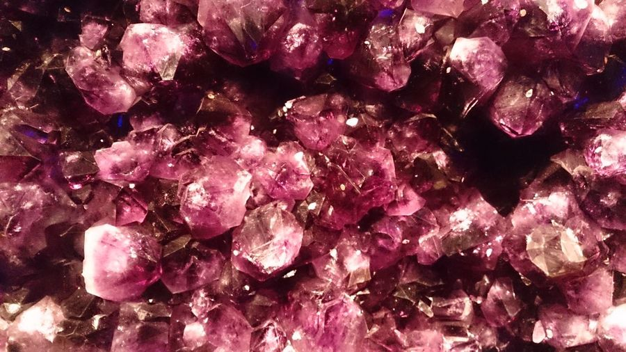 Nature Backgrounds Full Frame Pink Color Textured  Purple Gemstone  Close-up Crystal