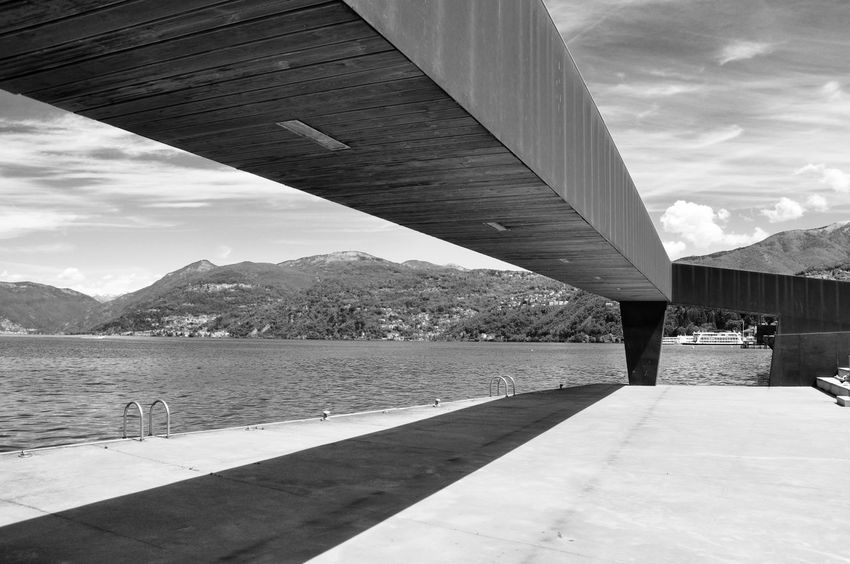 Architecture Blackandwhite Bridge - Man Made Structure Built Structure Cloud Cloud - Sky Cloudy Connection Day Engineering Mountain Mountain Range Nature No People Outdoors Rippled River Scenics Sky Tourism Tranquil Scene Tranquility Travel Destinations Water