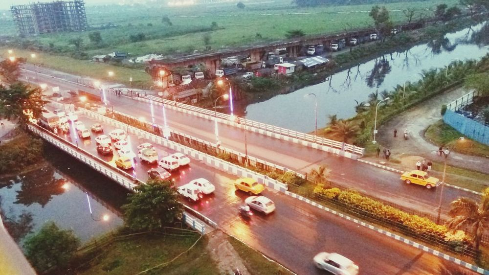 View from my room🚗🚥Transportation Car Illuminated Traffic Bridge - Man Made Structure Outdoors Road City Hello World Mobilephotography Check This Out Myclick💚 MyClick MyCity❤️ Architecture Dawn