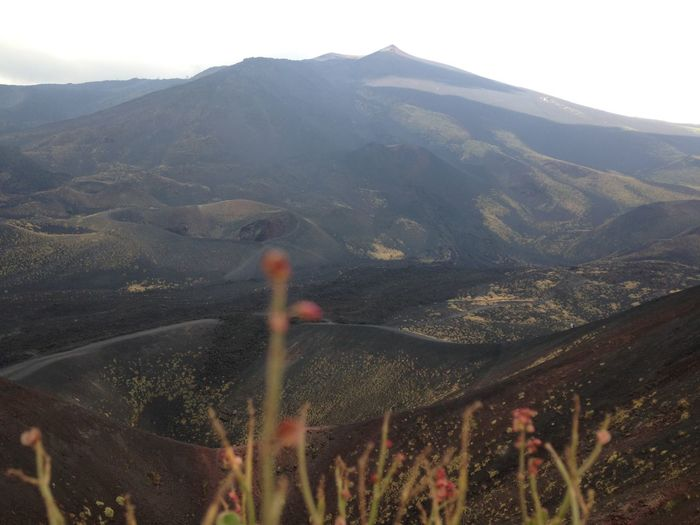 Scenic view of mount etna