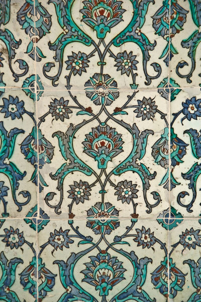 Backgrounds Full Frame Imperial Palace Istanbul Mosaic Pattern Seamless Pattern Tile Turkey