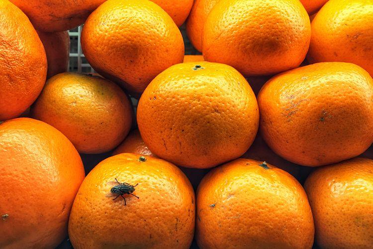 Full frame shot of oranges for sale in market