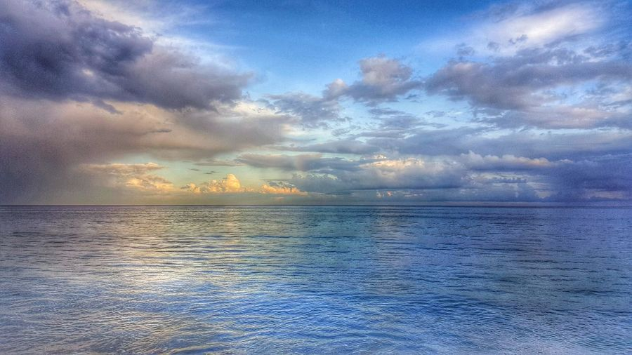 Sea Sky Sunset Cloud - Sky Nature Scenics Blue Horizon Over Water Dramatic Sky Tranquility Beach No People Reflection Water Outdoors Summer Beauty In Nature Tranquil Scene Pastel Colored