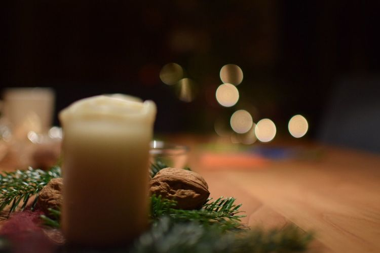 Christmas Candle Christmas Decoration Christmas Lights Indoors  Secound Poto