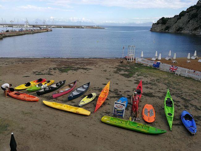 Water Day Nature Nautical Vessel Canoe Spiaggia Colori Colori Vivaci Natanti Porto Baia Cilento Salerno Italy Sabbia Sport Kayak Pagaia Barca A Remi Imbarcazione Turismo Turistico Molo Riva  Mediterranean