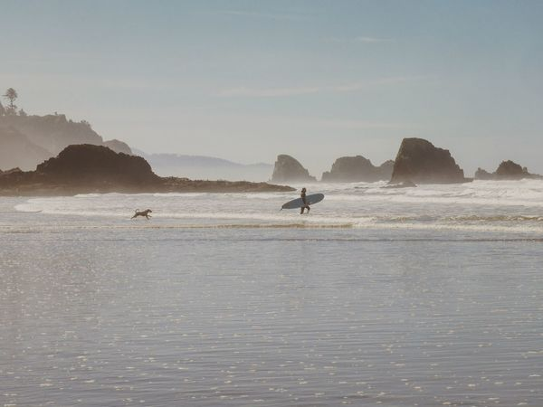 Done That. Sea Water Scenics Silhouette Outdoors Wanderlust West Coast Oregon Beachphotography Surfing Catching Waves Surfers Paradise Ocean Pacific Adventure