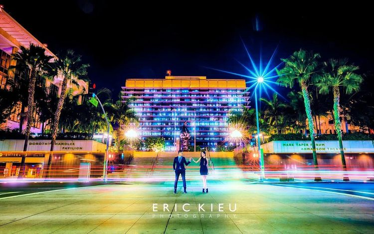 Engagement Photos Love Street Photography Neon Lights Flashing Lights