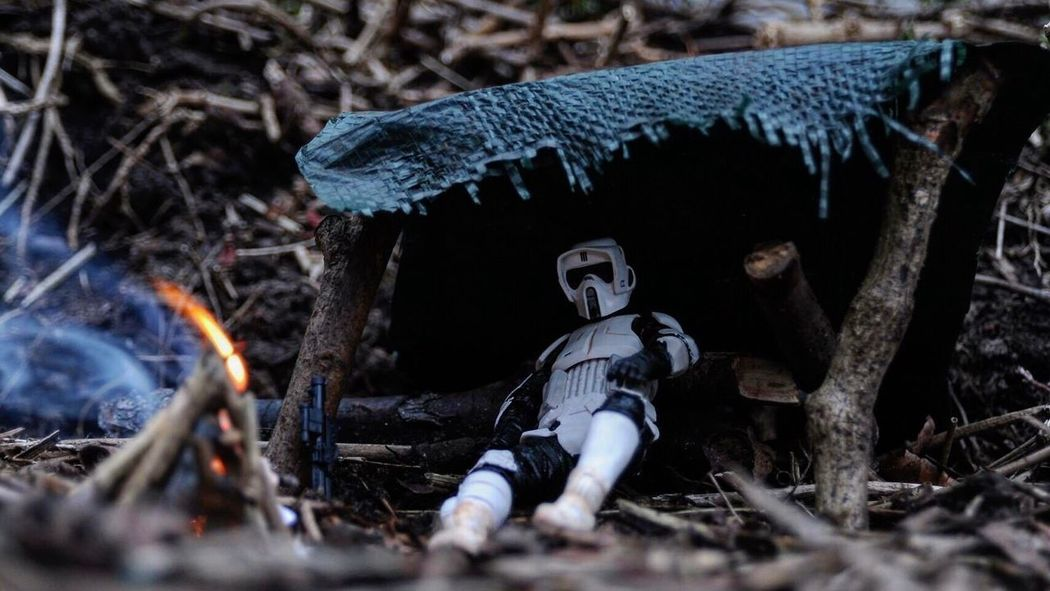 The camp fire provided little warmth. TK-4001 had been stationed on this forsaken moon for the past eighteen months, performing the same sweeps and perimeter checks every day. He looked forward to the day the Death Star was completed, at least then he could go home. That was if he'd still have a home to go back to. Starwars Starwarsfigures Stormtrooper Toycommunity Scouttrooper Toyphotography Toy Photography Star Wars The Black Series Starwarstoys Star Wars Returnofthejedi Endor Starwarstheblackseries Star Wars The Black Series