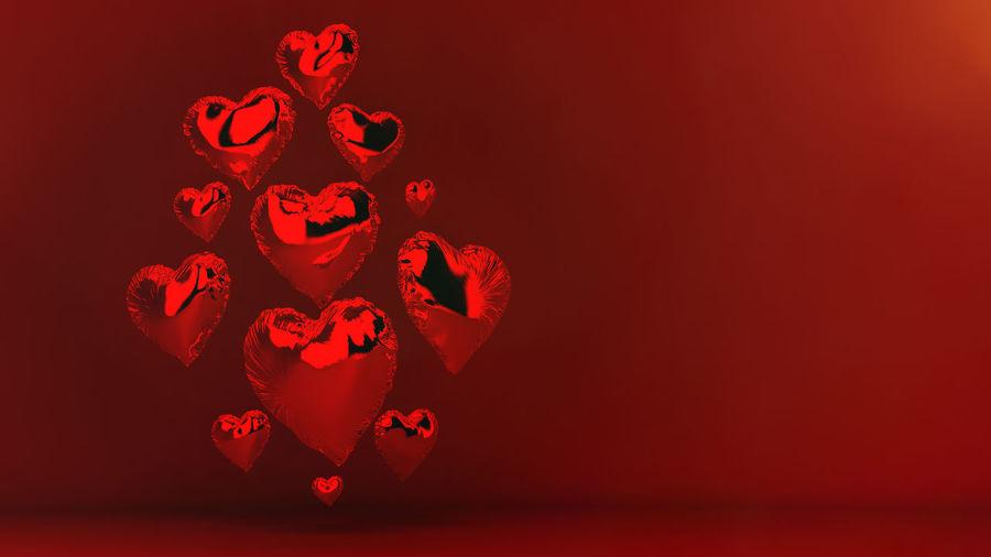 Hearts balloons