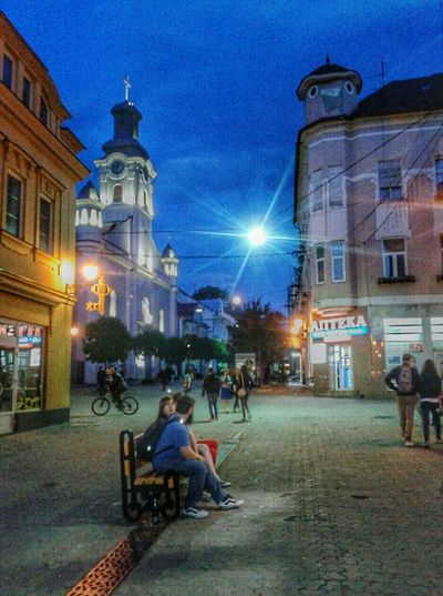 Cities At Night Uzhhorod Uzhgorod, Ukraine My City City At Night