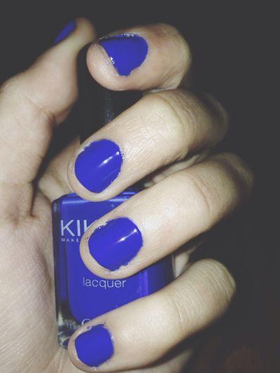 Nails blue kiko amazing beautiful Relaxing