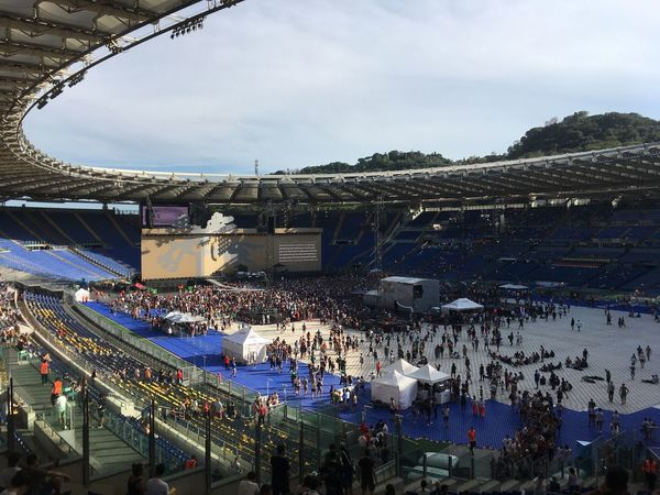 30th Anniversary Music U2 Concert Joshua Tree Large Group Of People Sky Stadio Olimpico