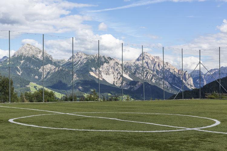 Alpenpanorama Alto Adige Fussball Südtirol Val Badia Alpine Landscape Alpine Soccer Field Day Gadertal Grass Nature Outdoors Sky Soccer Field South Tirol Sport Sudtirolo With A View