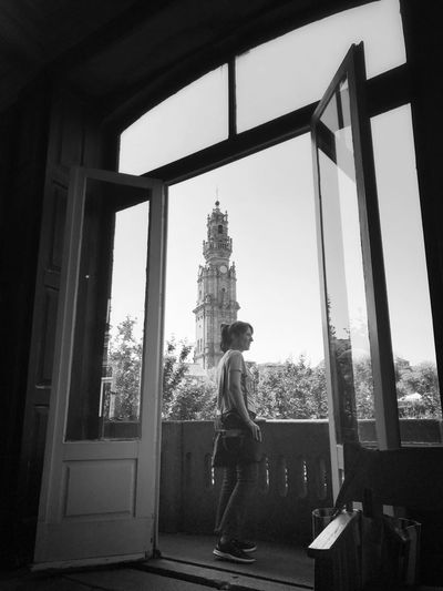 Architecture Standing Indoors  Travel Destinations One Person Blackandwhite
