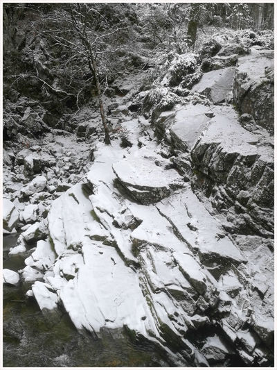 winter time... Snow Power In Nature Landscape Valley River Rocks Bruar Falls Sand No People High Angle View Beach Winter Cold Temperature Snow Water
