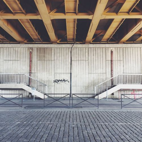 Street. Railing Architecture Built Structure Metal No People Indoors  Staircase Day Minimal Symmetry