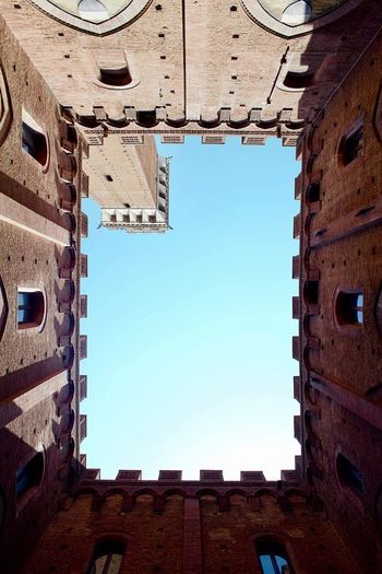 Lookup Lookup Siena Architecture Building Exterior Built Structure Low Angle View Clear Sky No People History Sky City Travel Destinations Day Outdoors