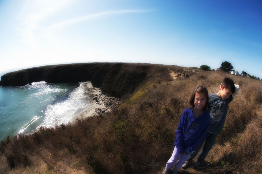 Shot of the kidlets taken atop a cliff in Northern CA. Cliffside Kids Pacific People And Places