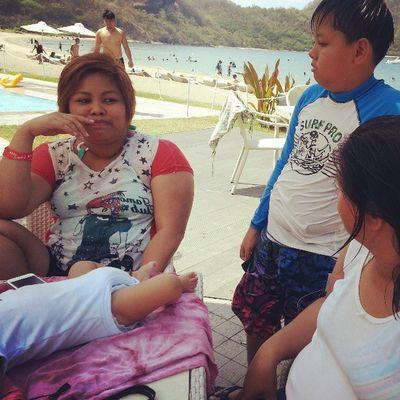 Si Tita Maya, mom and baby Eug! ? Summerescape2013