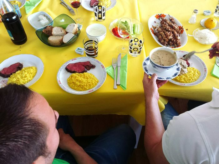 The Foodie - 2015 EyeEm Awards Mealtime Safrane-yellow Risotto Salt Souvlakia Wine Zitrone Sauce I'm Hungry