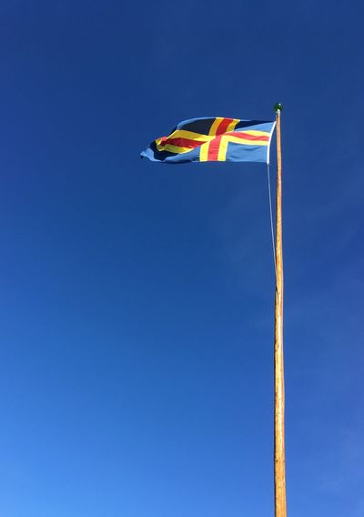 åland  Aland Islands Iphonese Iphonephotography Summer Flag Flags Flags In The Wind  Blue Blue Sky Nordic Nordic Countries Flagpole