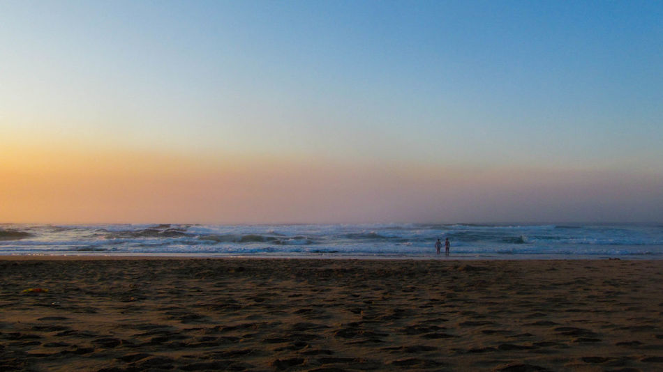 Sea Beach Horizon Over Water Scenics Tranquility Water Sky Sand Nature Beauty In Nature Outdoors Tranquil Scene Sunset Travel Destinations Wave No People Clear Sky Vacations Day