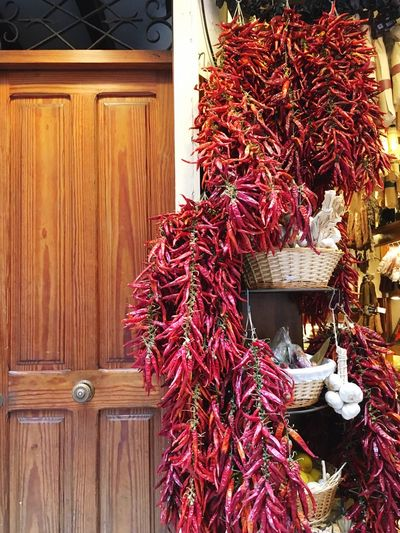 Hier wird es scharf... Dried Chillies Chillis Very Hot Hot Food Food Delicatessen Delicate Foodphotography Garlic Streetphotography Outdoors Door No People Day Cityscape City Decoration Ready-to-eat Freshness Red