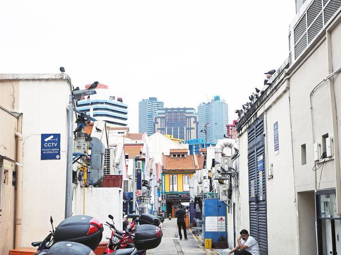 City street against clear sky
