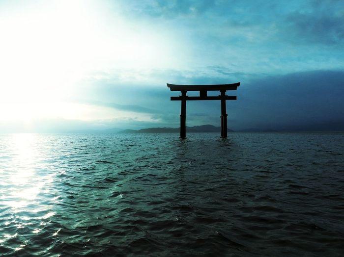 Torii Gate in lake