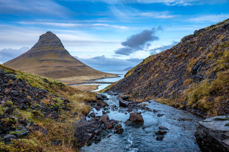 In The Wild Iceland EyeAmNewHere Water Mountain Peak Outdoors Landscape Beauty In Nature Scenics - Nature Mountain Nature Kirkjufell Cloud - Sky Sky EyeEmNewHere