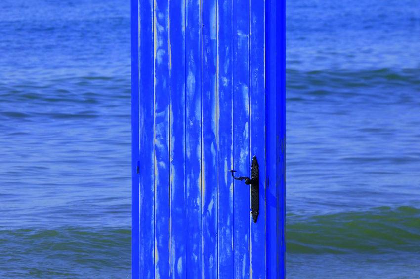 Beauty In Nature Blue Day Door Door In The Sea Nature Outdoors Sea Water Waterfront