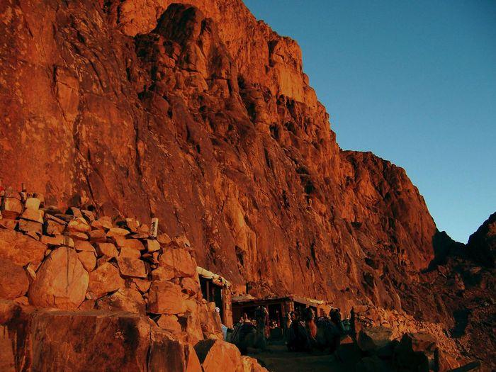 Geology Mosesberg Rock - Object Rock Formation Rocky Sinai Sonnenaufgang Wüste