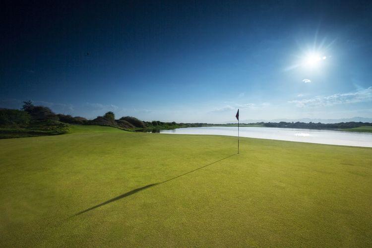 Blue Sky Beautiful View Golf Course Luxurylifestyle  Al Mouj Golf Golfing Muscat Oman Visit Oman